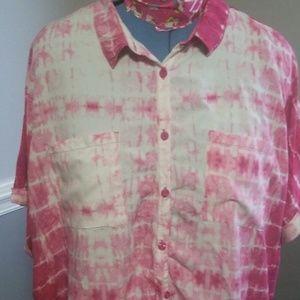 Lularoe XL Amy pink tie dye